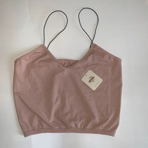 BNWT Free people crop top in rose, size M/L!